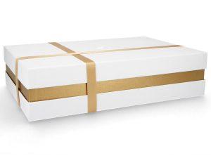 Individuelle Geschenkverpackung - Weiß mit Band