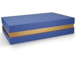 Premium Geschenkverpackung Blau