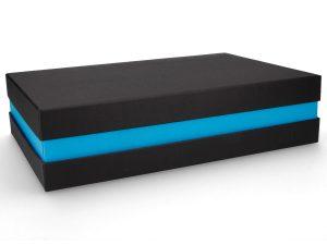 Premium Geschenkverpackung Schwarz-Blau