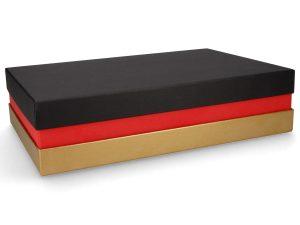 Premium Geschenkverpackung - Schwarz Rot Gold