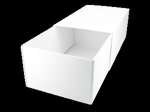 Faltbox weiß mit Banderole - kann optional veredelt oder bedruckt werden