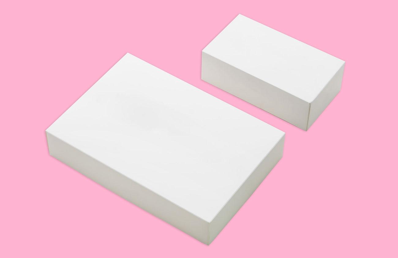 Stülpdeckelkarton in weiß, als Produktverpackung oder Geschenkverpackung