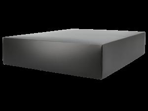 Stülpdeckelkarton / Faltschachtel in schwarz kann bedruckt werden