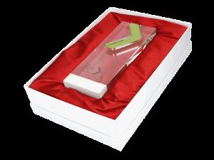 Hochwertige Pokalverpackung mit Einlegekissen in rot