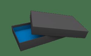 Stülpdeckelkarton schwarz